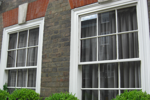 Georgian sash window glazing bars
